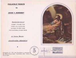 PHILATELIC TRIBUTE TO JOHN F. KENNEDY NEW YORK, NY 11/24/1963 ASDA SHOW - $8.55