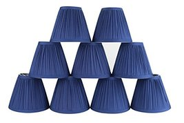 Urbanest Set of 9 Mushroom Pleated Chandelier Lamp Shade, 3-inch by 5-inch by 4. - $49.49