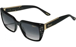 New Authentic CHOPARD SCH187R 700L 53MM Black Sunglasses Grey Lens - $188.09