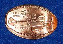 NATIONAL WORLD WAR II MUSEUM MILITARY SPITFIRE AIRPLANE PENNY SOUVENIR W... - $4.99