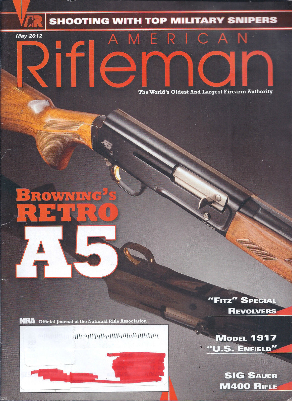 Primary image for The American Rifleman Magazine May 2012
