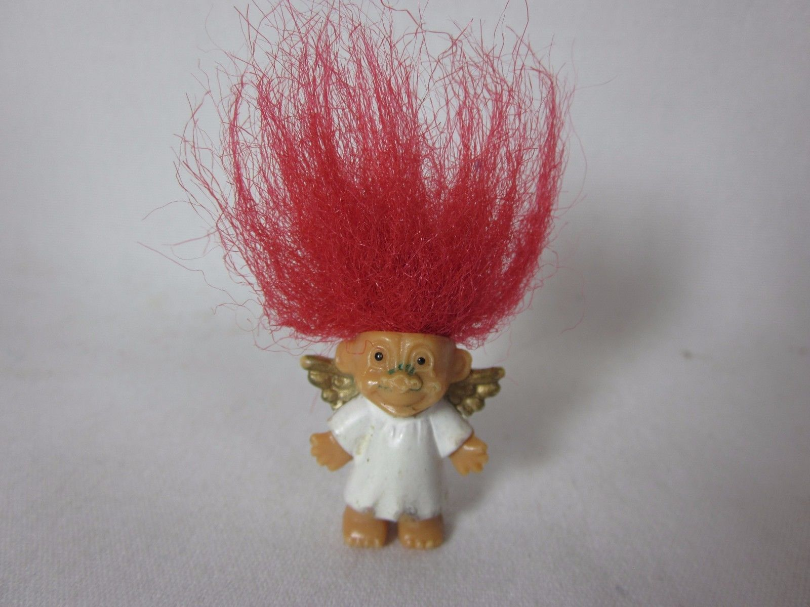 "Primary image for Mini Angel Troll 1"" Miniature Red Hair Valentines Day Russ"