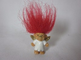 "Mini Angel Troll 1"" Miniature Red Hair Valentines Day Russ - $4.94"
