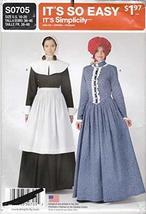 New Uncut Simplicity Sz Adult 10-20 Pilgrim/Pioneer Dress Pattern S0321 - $26.79
