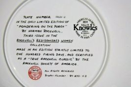 """""""Pondering on the Porch"""" by Norman Rockwell Plate with Box AA20-CP2220B Vintage image 4"""