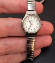 Ladies Vintage Caravelle Quartz Watch Stainless Steel Flex Band Hong Kong - £14.49 GBP