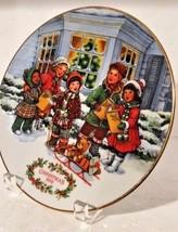 1991 Holiday Perfect Harmony  Decorative AVON Christmas Plate and Acryli... - $16.42