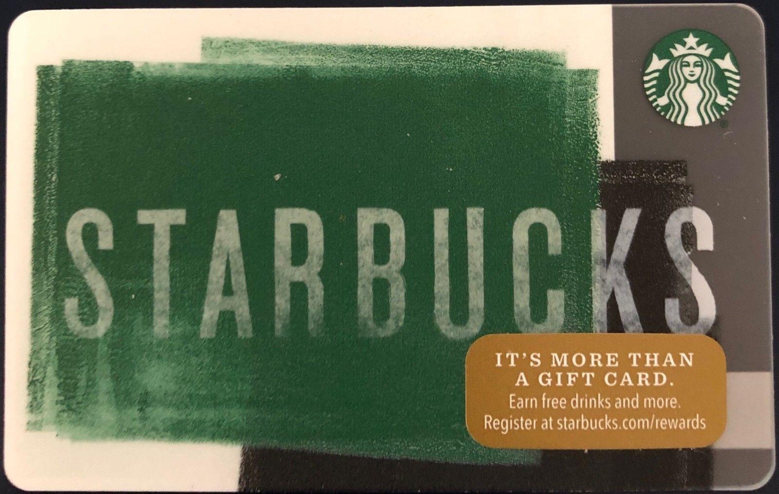 STARBUCKS 2016 Green Chalkboard Logo Gift Card (!NEW!, Never Loaded, PIN Intact)