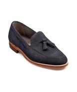 New Handmade Men's Navy Blue Suede Slip Ons Loafer Tassel Shoes - $129.99+