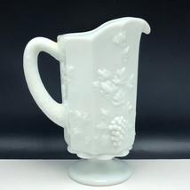 Westmoreland Milk Glass Paneled Grape glassware England vase pitcher carafe vtg - $63.36