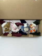 Pooh Plush Ornament 4 Pc. Set Boyd's Collection A Christmas to Remember ... - $108.45