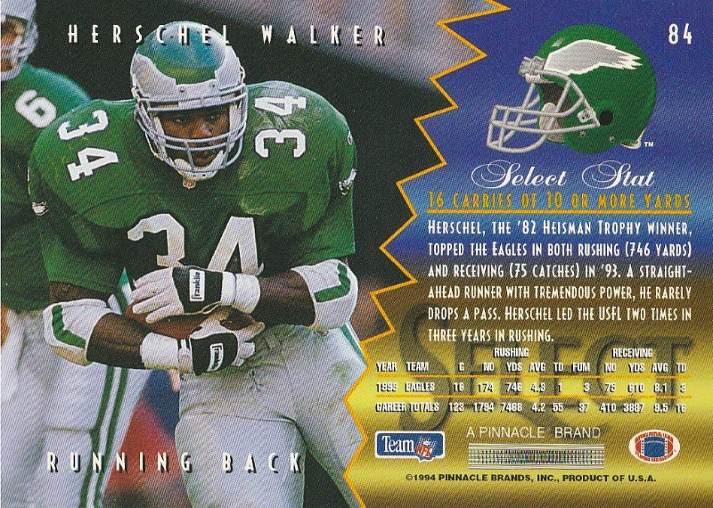 1994 Select #84 Herschel Walker