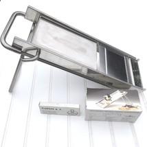MATFER Mandoline Stainless Steel 44595 w/ Pusher Extra Cutter Set Ecarte... - $98.98