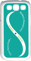Teal Green & White Mother's Love with Light Green Names Samsung Galaxy S... - $15.95