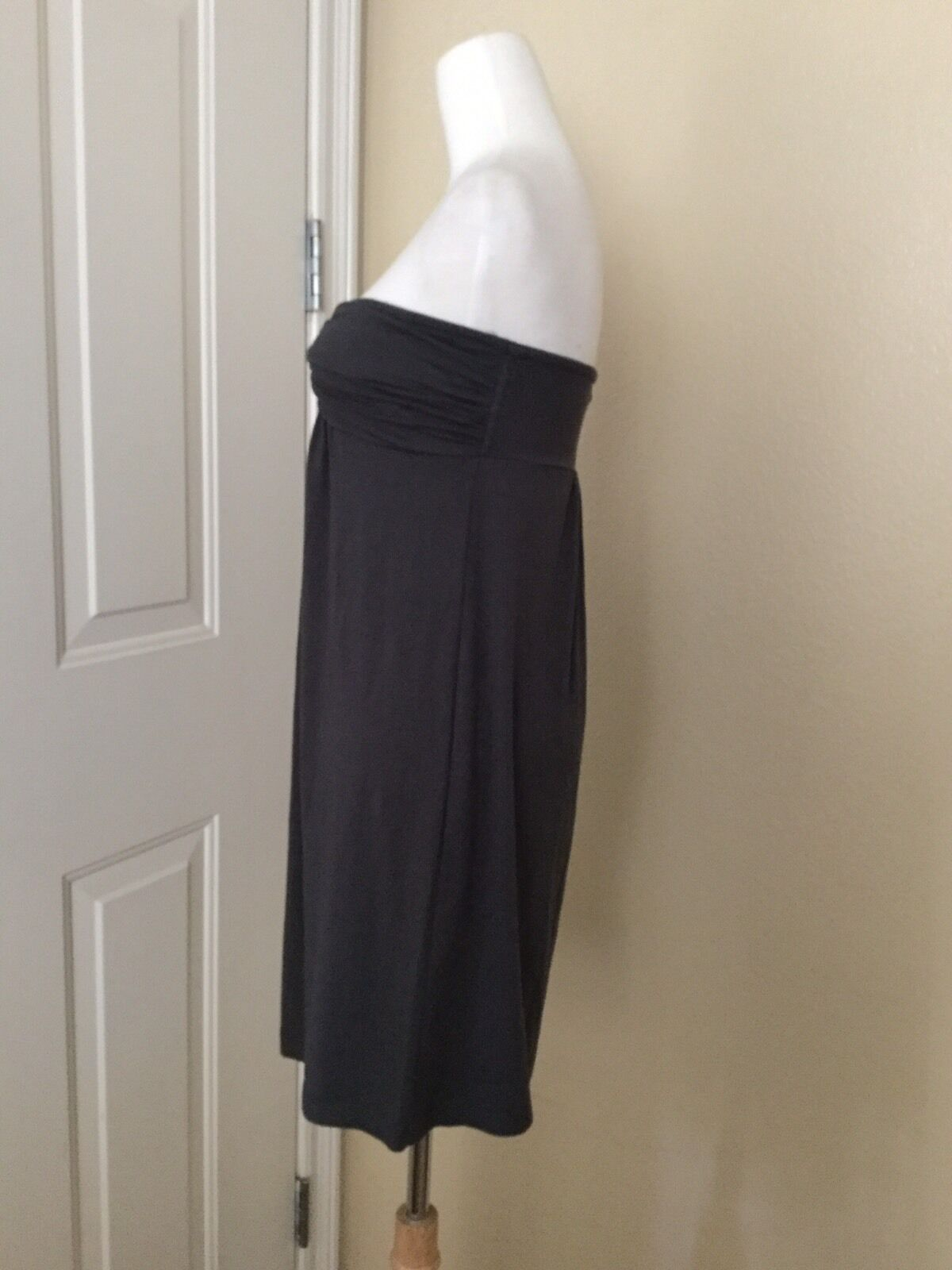 NWT J.CREW Dressy Jersey Strapless Dress in Gray, Size Small image 4