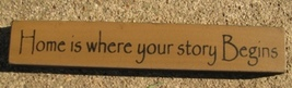 Primitive Wood Block  32326HG-Home is where your story begins   - €2,04 EUR