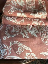 Pottery Barn Alessandra Duvet Cover Terra Cotta Red Queen 2 Standard Shams - $149.00