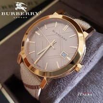 Burberry BU9026 The City Champagne Nova Check Strap 38mm - $260.00