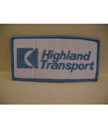 Highland Transport Semi Truck Souvenir Patch Crest - $4.99