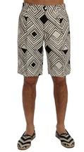 New $610 Dolce & Gabbana Men White Black Striped Casual Shorts It48-M - $199.96