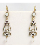 Edwardian Style Earrings Swarovski Crystals Rep... - $48.00