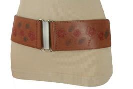 Women Bohemian Belt Elastic Brown Waistband Fashion Hip High Waist Flora... - $14.69