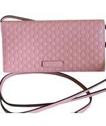 Gucci Women's Microguccissima Soft Pink Wallet CrossBody 466507 - $895.00