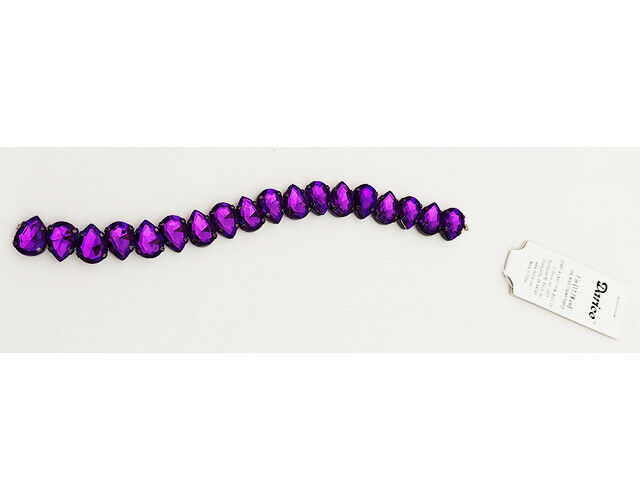 Darice Purple Oval Beads, 7 Inches #1999-2629