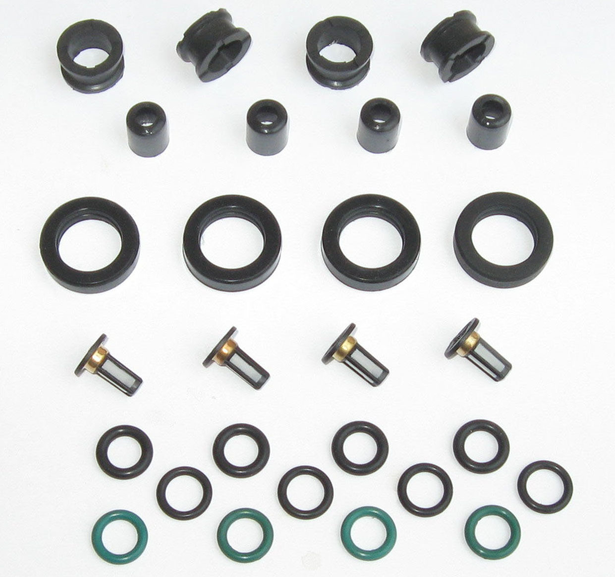 The Injector Shop 4-514 Fuel Injector Rebuild Seal Kit for Honda Acura
