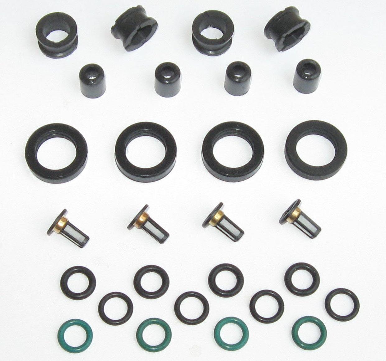 V6 Fuel Injector Service Repair Kit O-Rings Filters Seals Pintle Caps