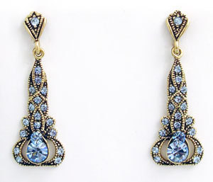 Primary image for Edwardian Style Earrings Swarovski Crystals Reproduction