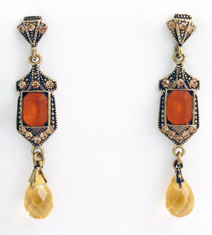 Primary image for Deco Style Earrings Swarovski Crystals Reproduction