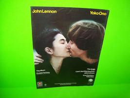 John Lennon Yoko Ono Double Fantasy Vintage 1980 Original LP Color Adver... - $5.88