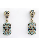 Deco Style Earrings Swarovski Crystals Reproduction - $42.00