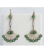 Georgian Style Earrings Swarovski Crystals Reproduction - $46.00