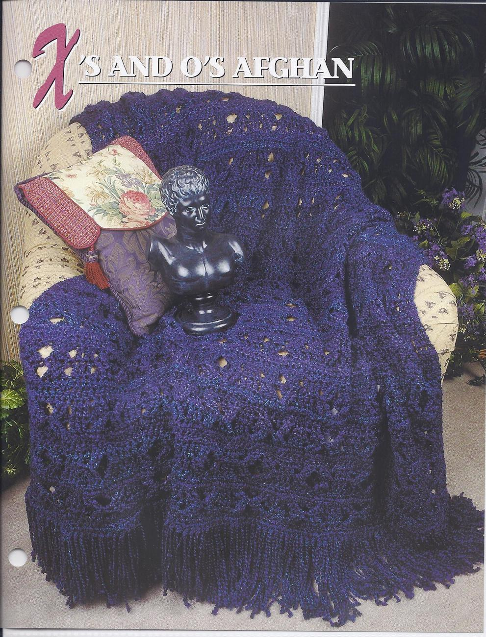 Crochet X And O Pattern : and Os Afghan Crochet Pattern~Annies Quilt & Afghan Club ...