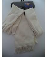 Relativity Ladies 3 Piece Scarf & Glove Set,Ivory - $18.55