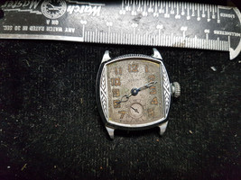 Vintage Art Deco Case Elgin Watch With Blue Hands For You To Fix Dial Glass - $120.94