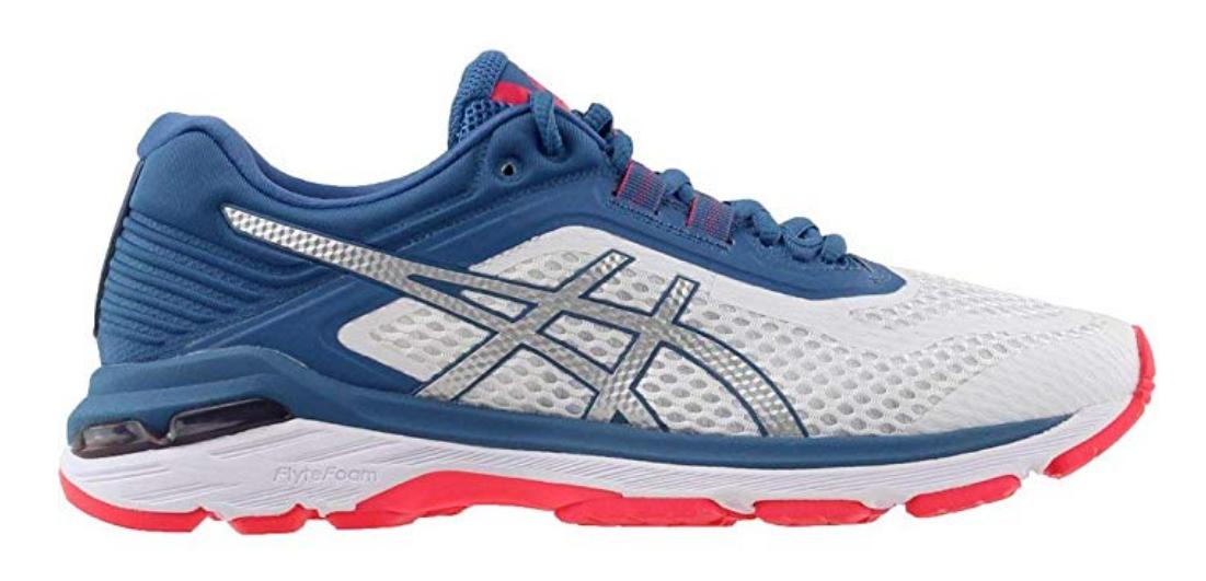Asics GT 2000 v 6 Size 8 M (B) EU 39.5 Women's Running Shoes White Azure T855N
