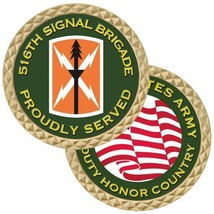 "ARMY 516TH SIGNAL BRIGADE  1.75""  CHALLENGE COIN - $18.04"