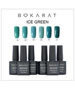 Bokarat Gel Nail Polish Set Soak Off UV LED Ice Green Series 6 x 7.3 ml  - $21.99