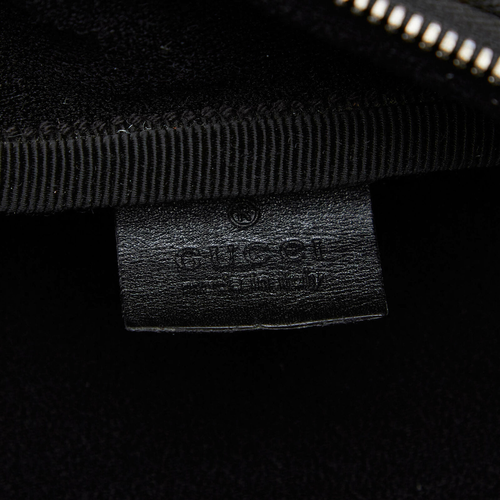 Pre-Loved Gucci Black Nylon Fabric Business Bag Italy