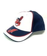 Cleveland Indians Vintage MLB Cotton White/Navy Cap (New) By Twins Enter... - $27.99