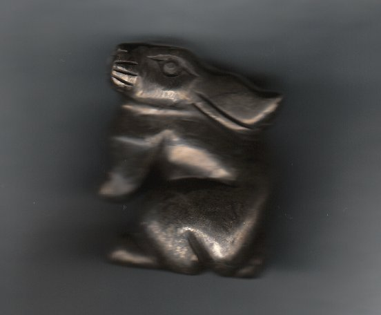 Primary image for CARVED PYRITE BUNNY RABBIT