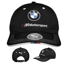 PUMA BMW M BB Motorsport Logo Strap Back Cap Black Baseball Hat 022536 01 image 1