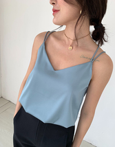 V-Neck Sleeveless Chiffon Tank Top Summer Women's Chiffon Sleeveless Top Blouse image 7
