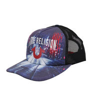 True Religion Men's City Digital Print Logo Cap Sports Snapback Trucker Hat image 3
