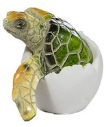 Cute Things Adorable Baby Sea Turtle Hatching from Egg 3 Inch Tall Figur... - $5.89