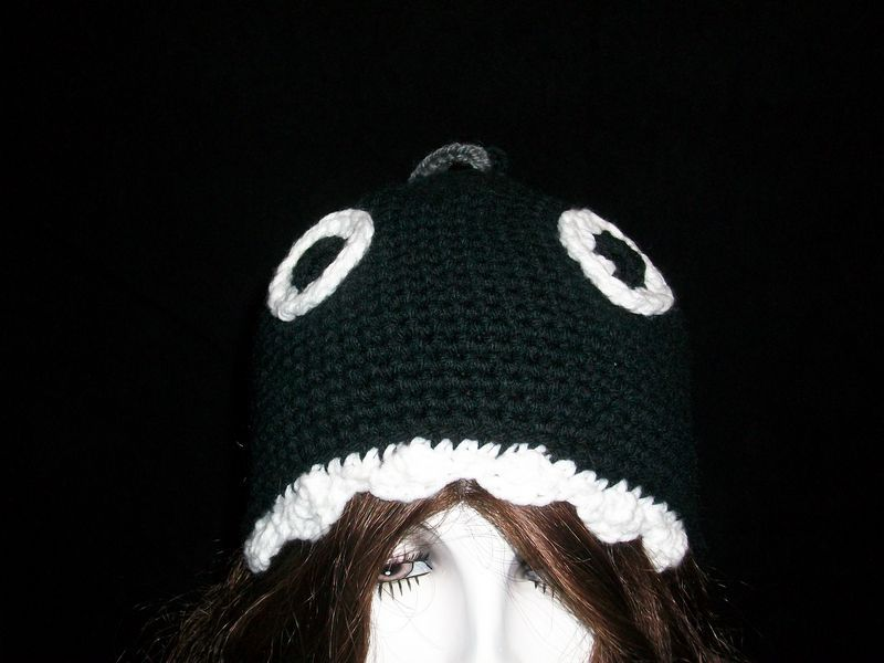 Mario Nintendo Chain Chomp crochet Hat Custom Made Any Size