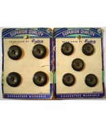 Set of 9 2 Tone Grey Eugenia Superior Quality Buttons 2 Sizes Vintage Gr... - $10.99
